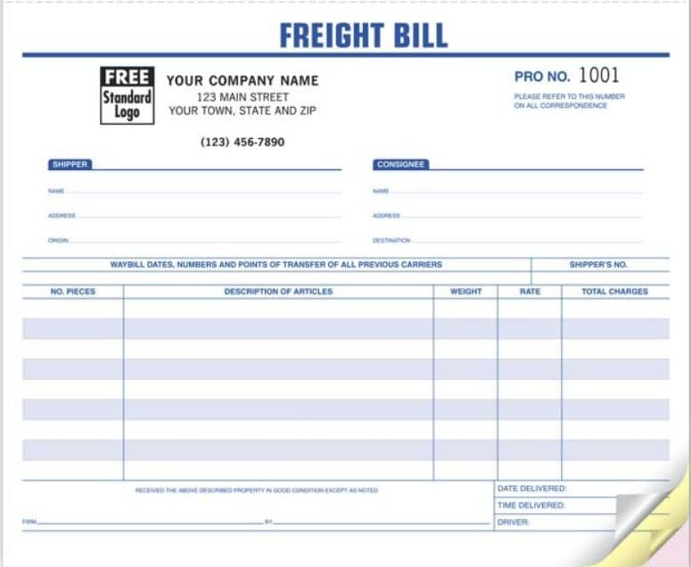 freight bill and bill of lading data entry services deio
